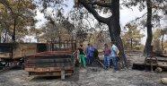 Yangın sonrası geri döndü aracını küle dönmüş buldu