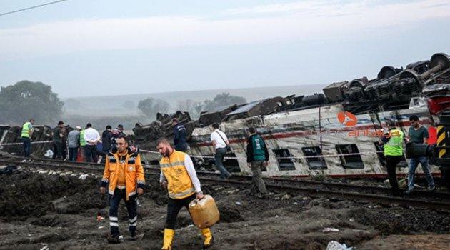 Tekirdağ'da tren faciasında bilanço ağır: 24 ölü, 318 yaralı