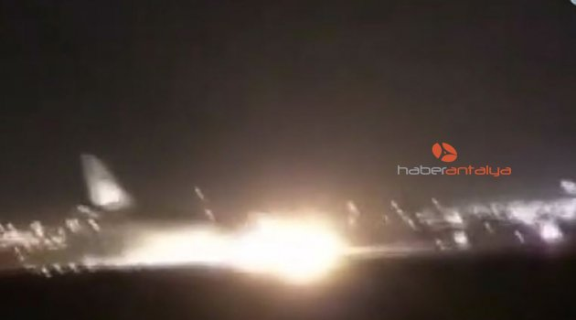 Türk pilot, arızalanan yolcu uçağını burnu üzerine indirdi! İşte o anlar...