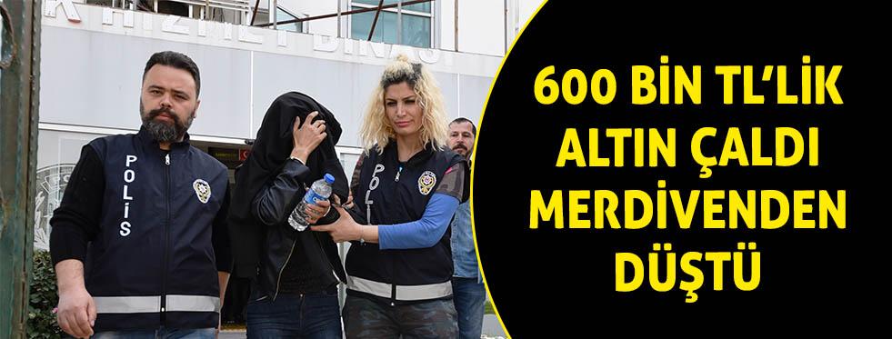 30 bin liralık altın çaldı düşünce yakalandı
