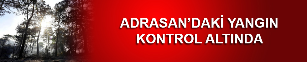 ADRASAN'DAKİ ORMAN YANGINI KONTROL ALTINDA