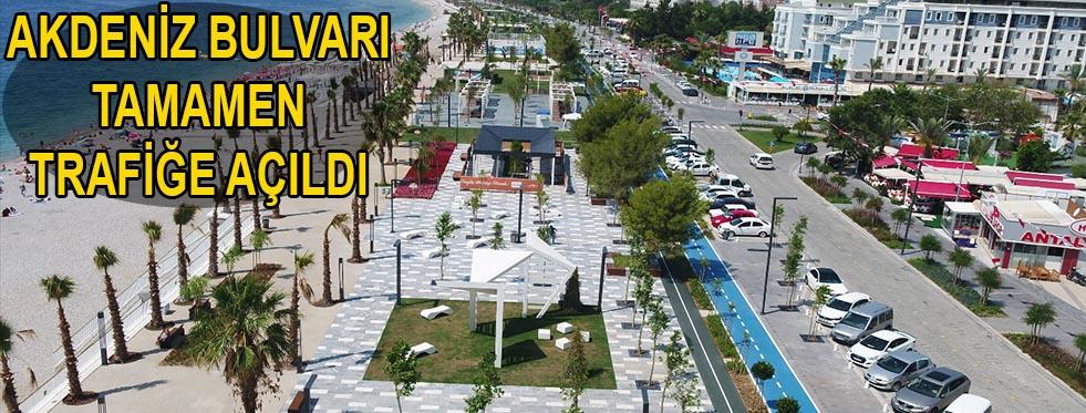 Akdeniz Bulvarı tamamen trafiğe açıldı