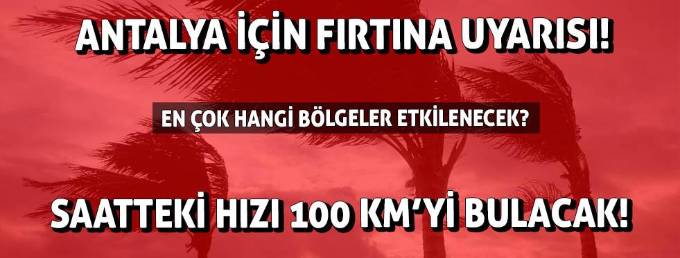 Antalya için fırtına uyarısı! | Antalya hava durumu