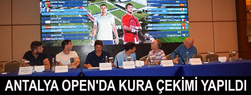 Antalya Open'da kura çekimi yapıldı