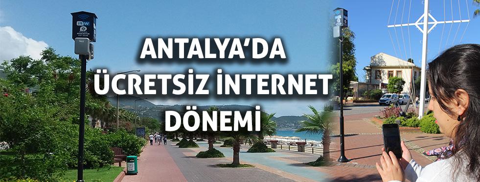 Antalya'da ücretsiz internet dönemi