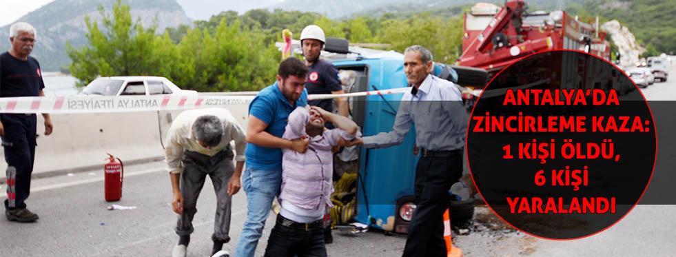 Antalya'da zincirleme kaza: 13 yaşındaki Muhammet öldü, 6 yaralı