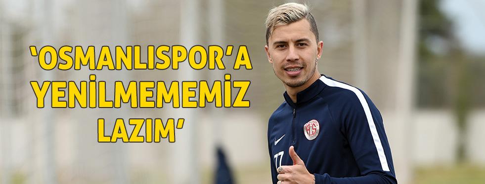 Antalyasporlu Emre Güral: Osmanlıspor'a kesinlikle yenilmememiz lazım