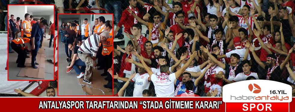 Antalyasporlu taraftarlardan 'stada gitmeme kararı'