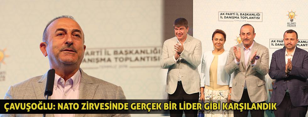 Bakan Çavuşoğlu: NATO zirvesinde gerçek bir lider gibi karşılandık