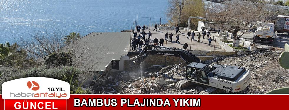 BAMBUS PLAJI'NDA YIKIM