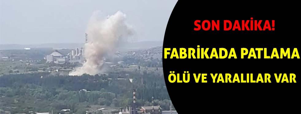 Barut Fabrikası'nda patlama