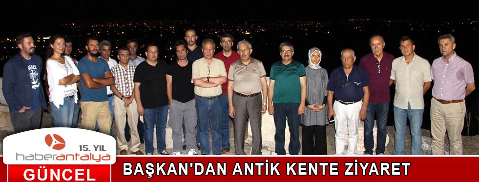 BAŞKAN'DAN ANTİK KENTE ZİYARET