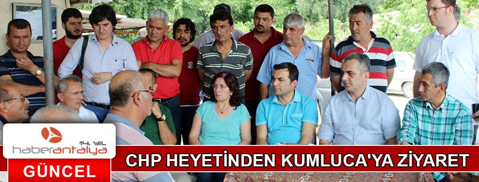 CHP HEYETİNDEN KUMLUCA'YA ZİYARET
