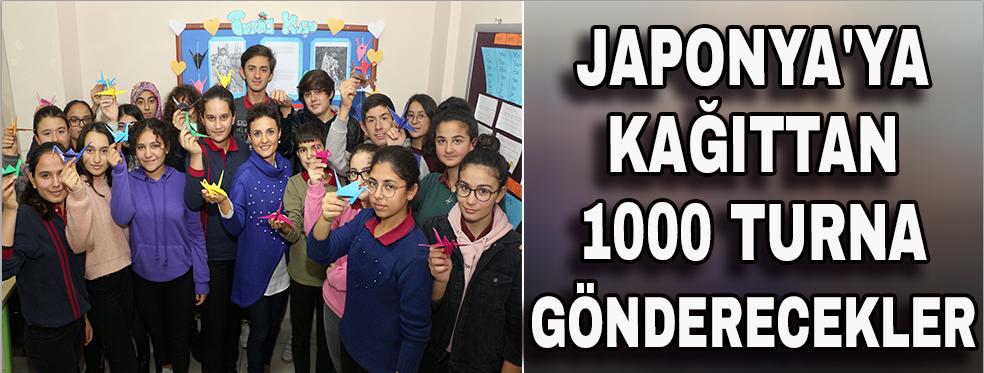 Japonya'ya kağıttan 1000 Turna gönderecekler