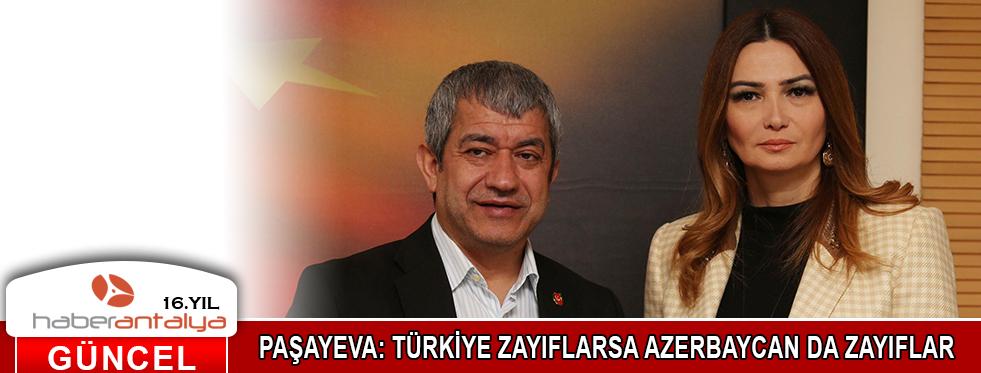 PAŞAYEVA: TÜRKİYE ZAYIFLARSA AZERBAYCAN DA ZAYIFLAR