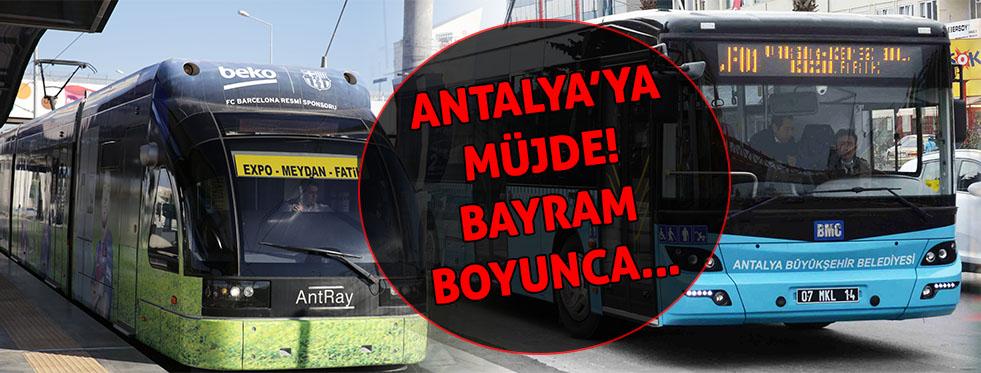 Resmi plakalı otobüsler ve tramvay bayramda ücretsiz