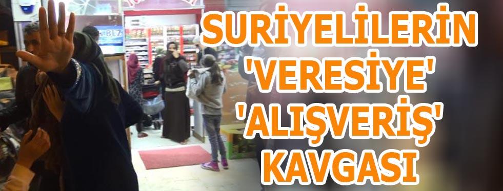 Suriyelilerin 'veresiye' 'alışveriş' kavgası