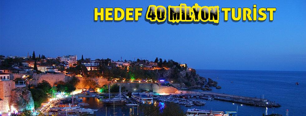Turizmde 40 milyon turist beklentisi
