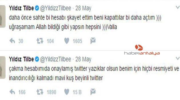 YILDIZ TİLBE'NİN 'TWİTTER' İSYANI